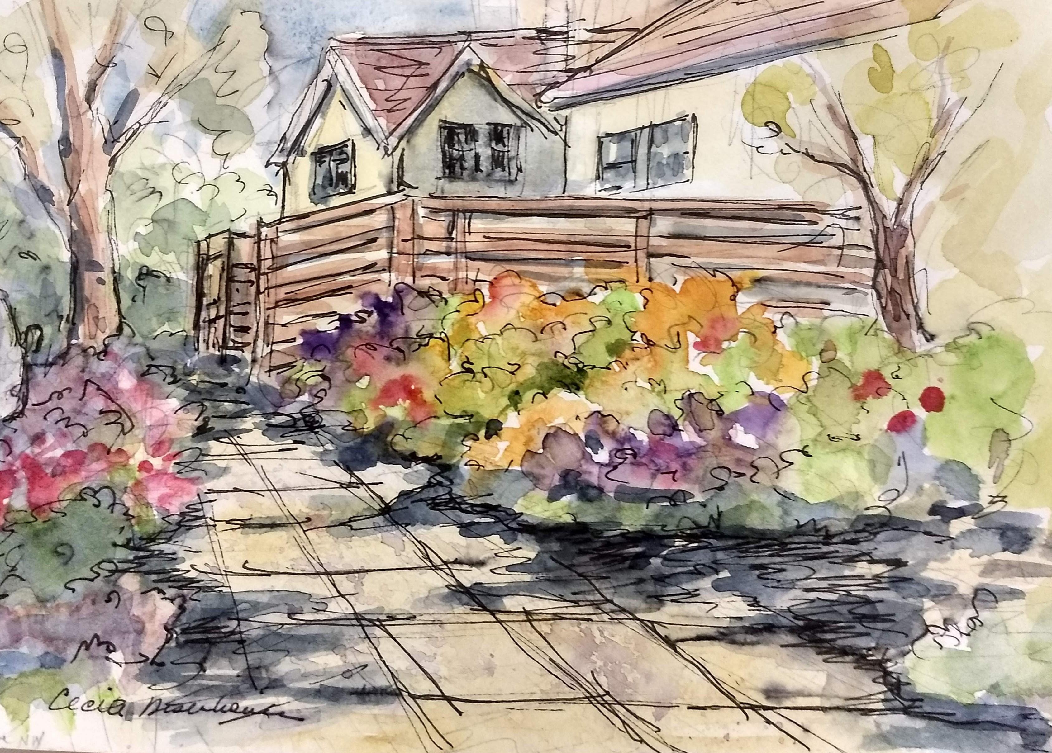Cecile's watercolor